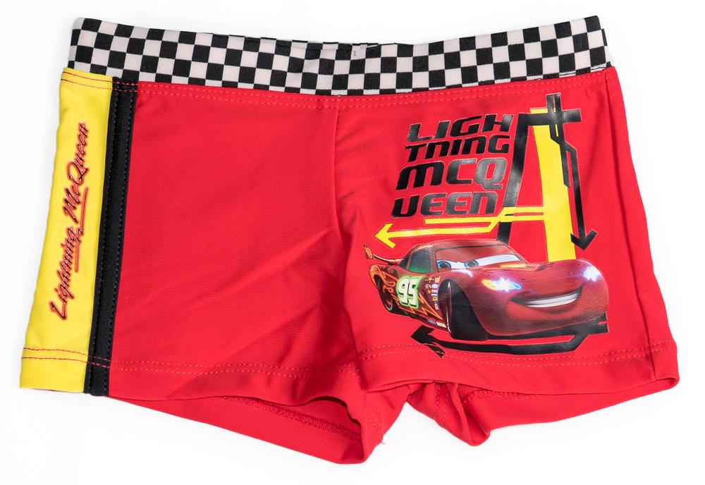 Dětské originální licenční plavky Disney Cars, červené