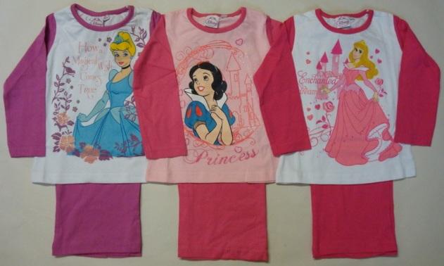 Krásné originální dětské pyžamo Disney Princezny pro holky, 3 barvy