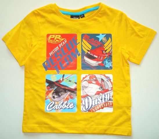 Krásné originální dětské tričko pro kluky Disney Planes, žluté