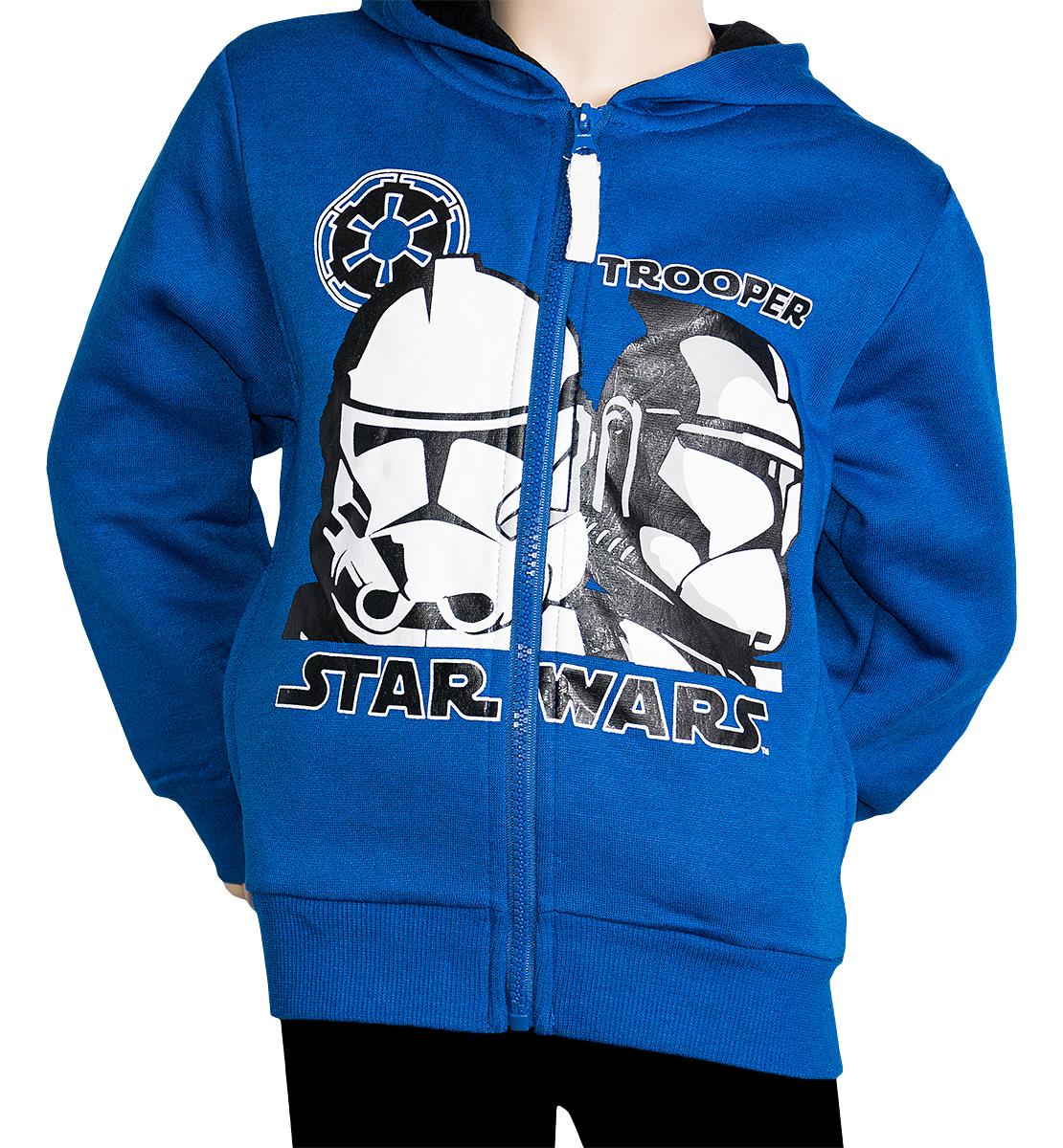 Krásná originální dětská mikina Star Wars pro kluky, modrá