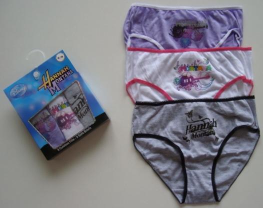 Krásné originální dětské kalhotky Hannah Montana pro holky, 3-pack