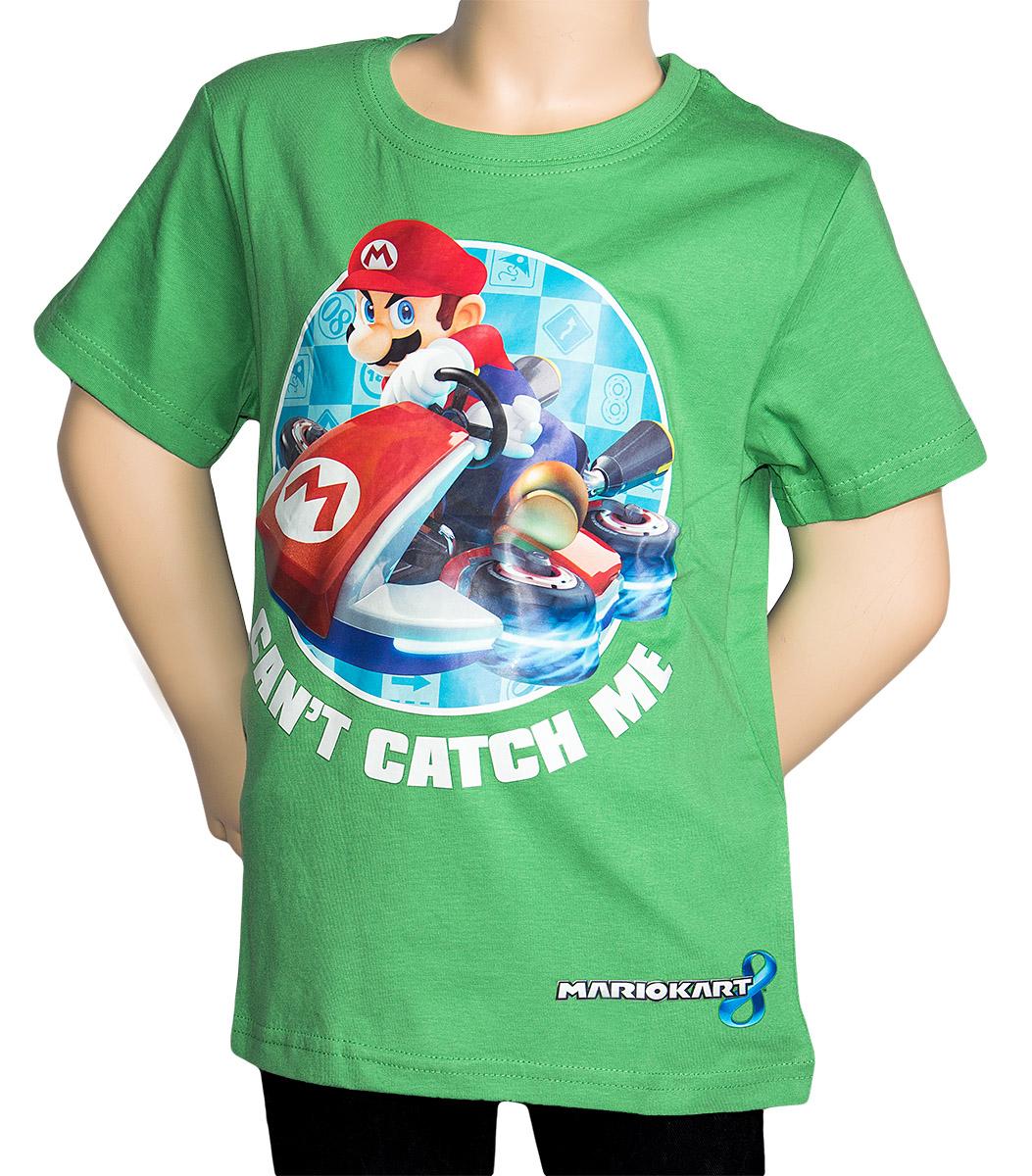 Krásné originální dětské tričko Super Mario pro kluky, zelené