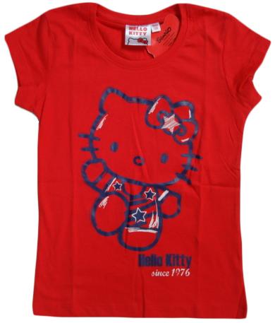 Krásné originální dětské tričko Hello Kitty, červené, pro holky