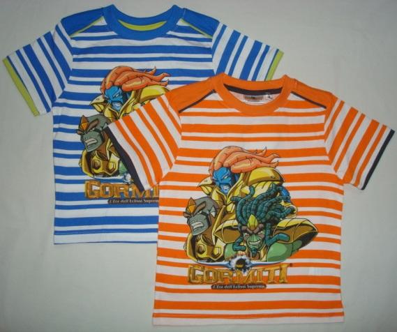 Tričko Gormiti, pruhované