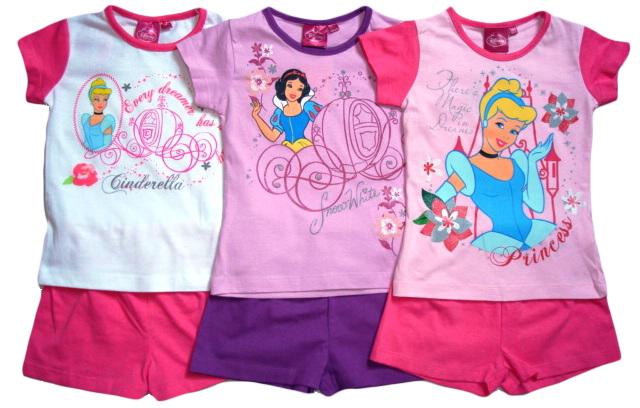 Set Disney Princezny, tričko a šortky / letní pyžamo