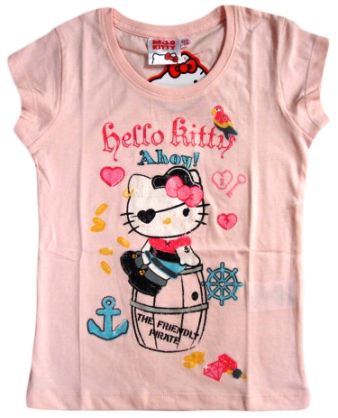 Tričko Hello Kitty, růžové, červené a bílé