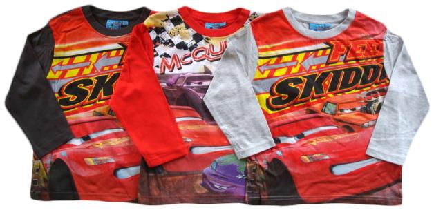Krásné originální dětské tričko Disney Cars pro kluky - 3 barvy