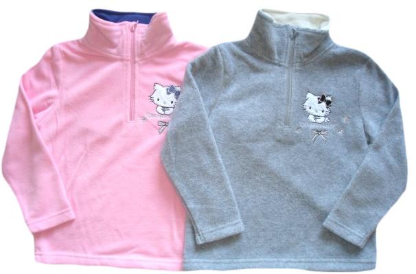 Mikina Hello Kitty, růžová a šedá