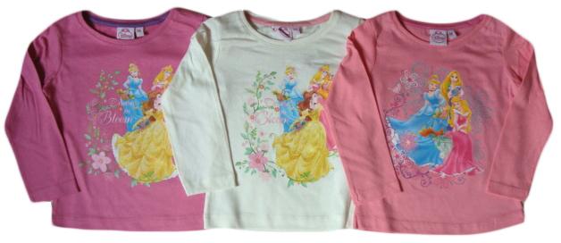 Tričko Disney Princezny, dlouhý rukáv
