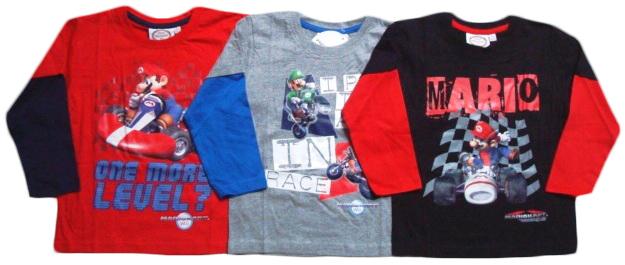Tričko Super Mario, dlouhý rukáv, combi 2
