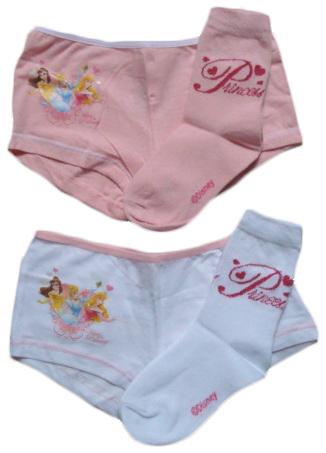 Set kalhotky a ponožky Disney Princezny