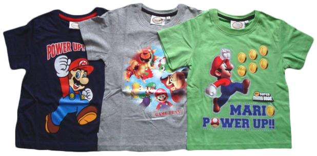 Tričko Super Mario, 3 barvy