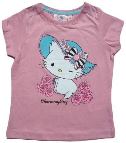 Krásné originální dětské tričko Hello Kitty růžové, pro holky