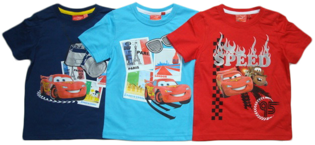 Tričko Disney Cars, tmavomodré, tyrkysové a červené