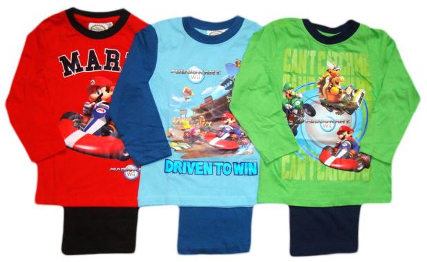 Pyžamo Super Mario, červené, modré a zelené