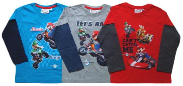 Tričko Super Mario, dlouhý rukáv, combi 3
