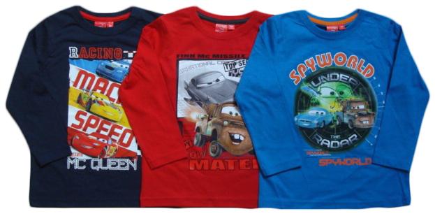 Tričko Disney Cars, tmavomodré, červené a modré