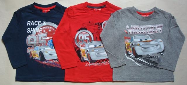 Tričko Disney Cars, tmavomodré, červené a šedé
