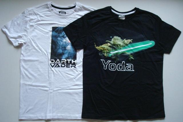 Tričko Star Wars, bílé a černé