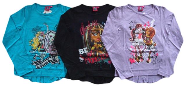 Tričko Monster High, s dlouhým rukávem