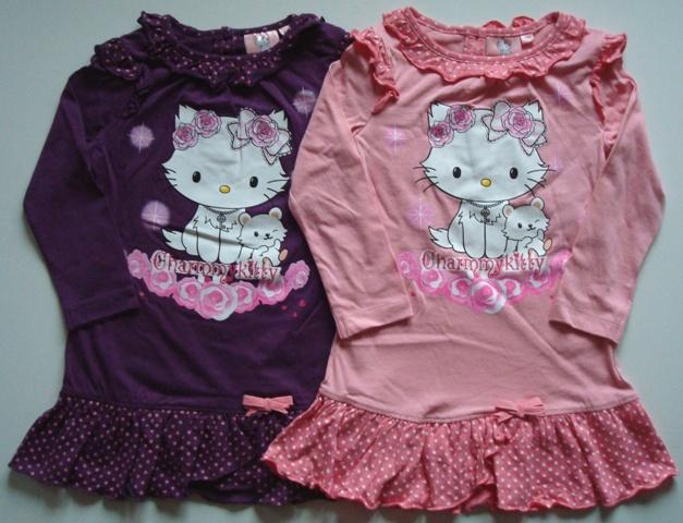 Noční košile Hello Kitty, fialová a růžová
