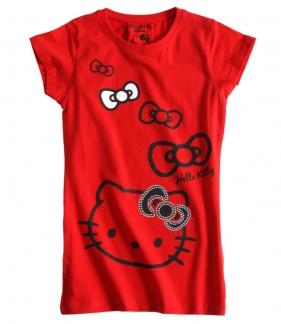 Krásné originální dětské tričko Hello Kitty, červené, S/140