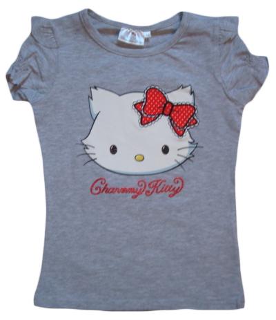 Krásné originální dětské tričko Hello Kitty, šedé, 140