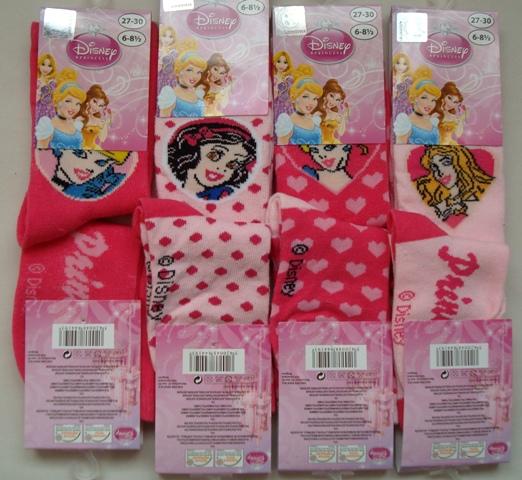 Ponožky Disney Princezny, růžové