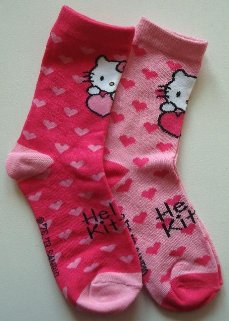 Ponožky Hello Kitty, růžové