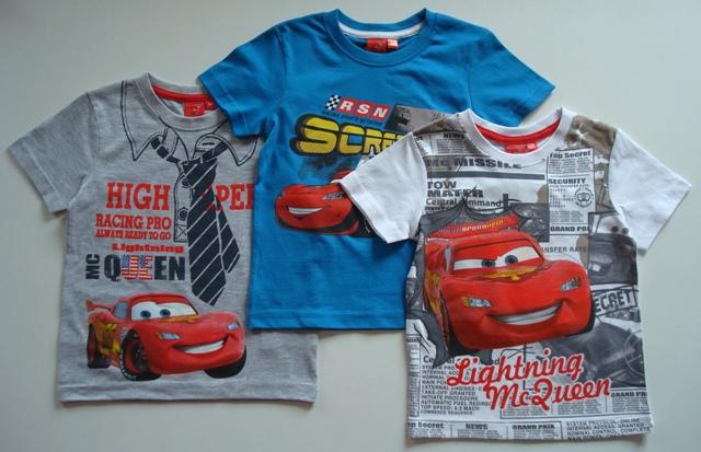 Tričko Disney Cars, šedé, modré a bílé