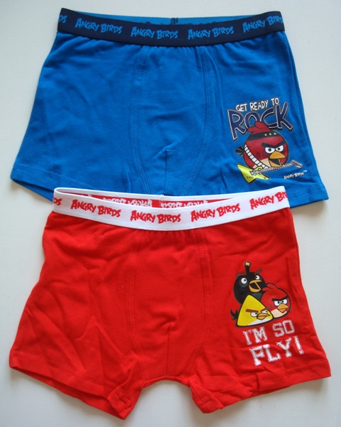 Boxerky Angry Birds