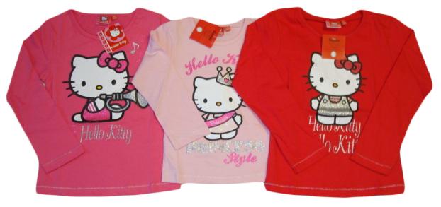 Tričko Hello Kitty, dlouhý rukáv, 3 barvy