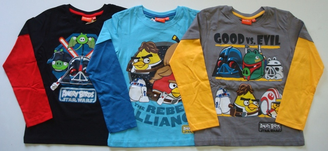 Tričko Angry Birds, Star Wars, combi 5