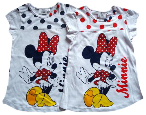 Noční košile / Letní šaty Minnie, s puntíky