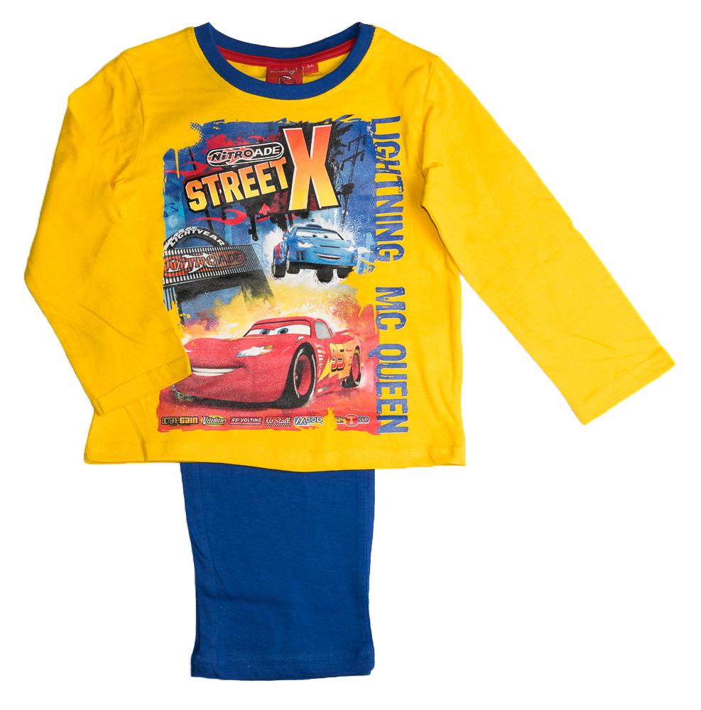 Dětské originální licenční pyžamo Disney Cars, žluté