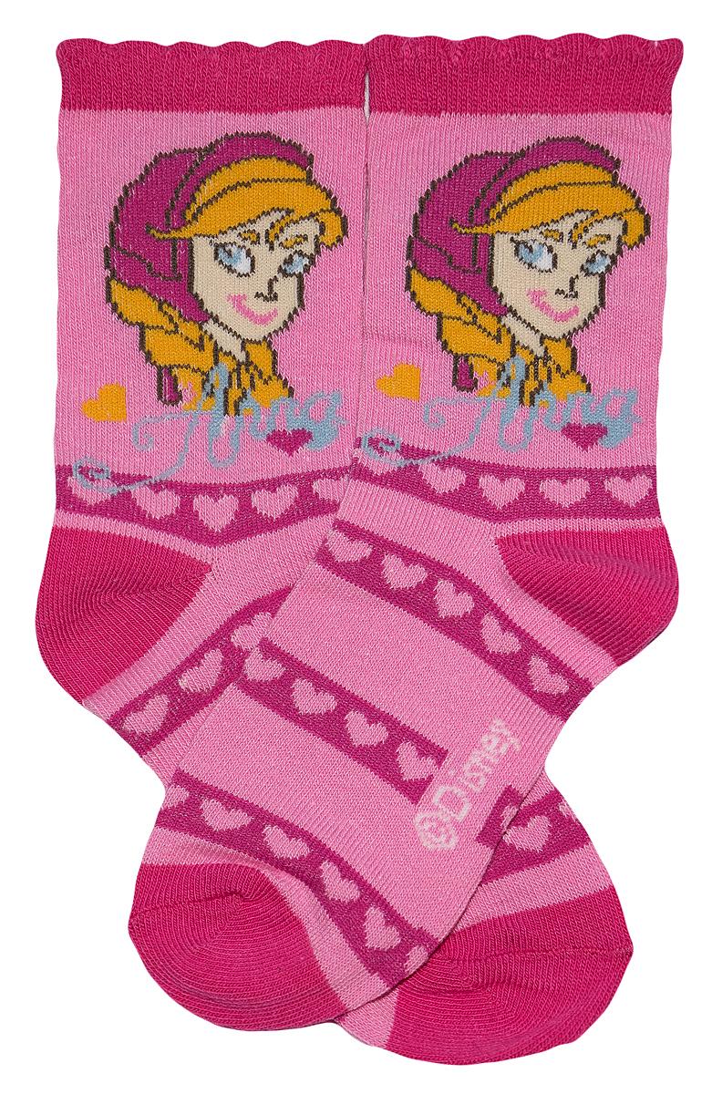 Krásné originální dětské ponožky Frozen pro holky, růžové