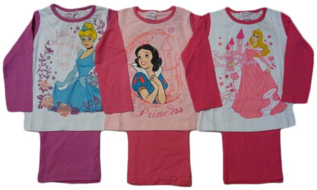 Pyžamo Disney Princezny, 3 barvy