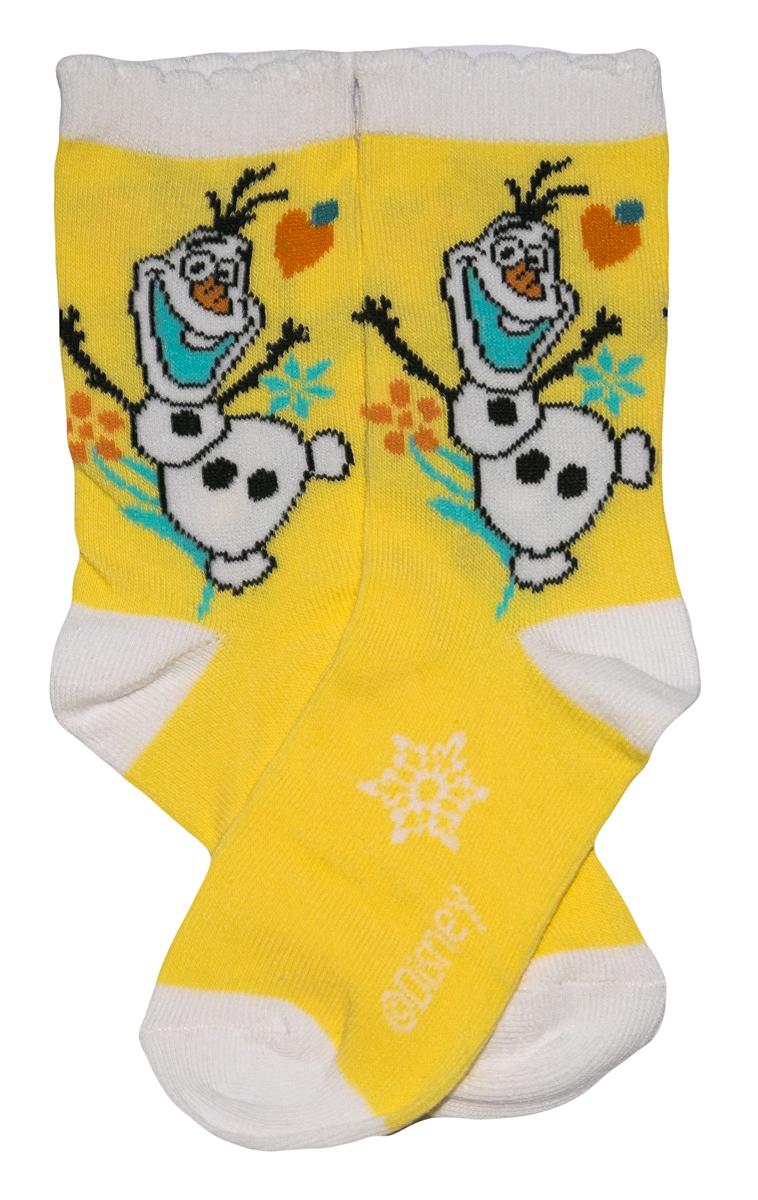 Krásné originální dětské ponožky Frozen pro holky, žluté