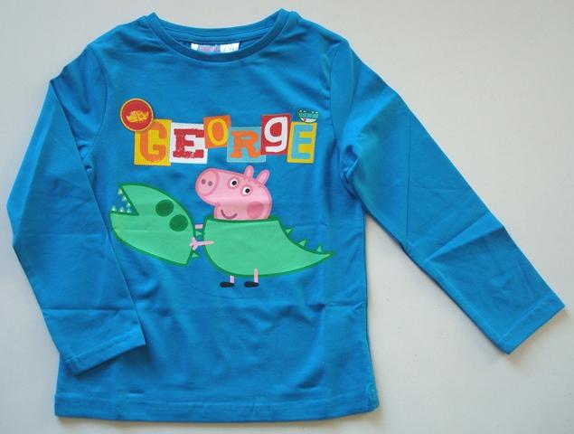 Krásné originální dětské tričko pro kluky Prasátko Peppa Pig, modré