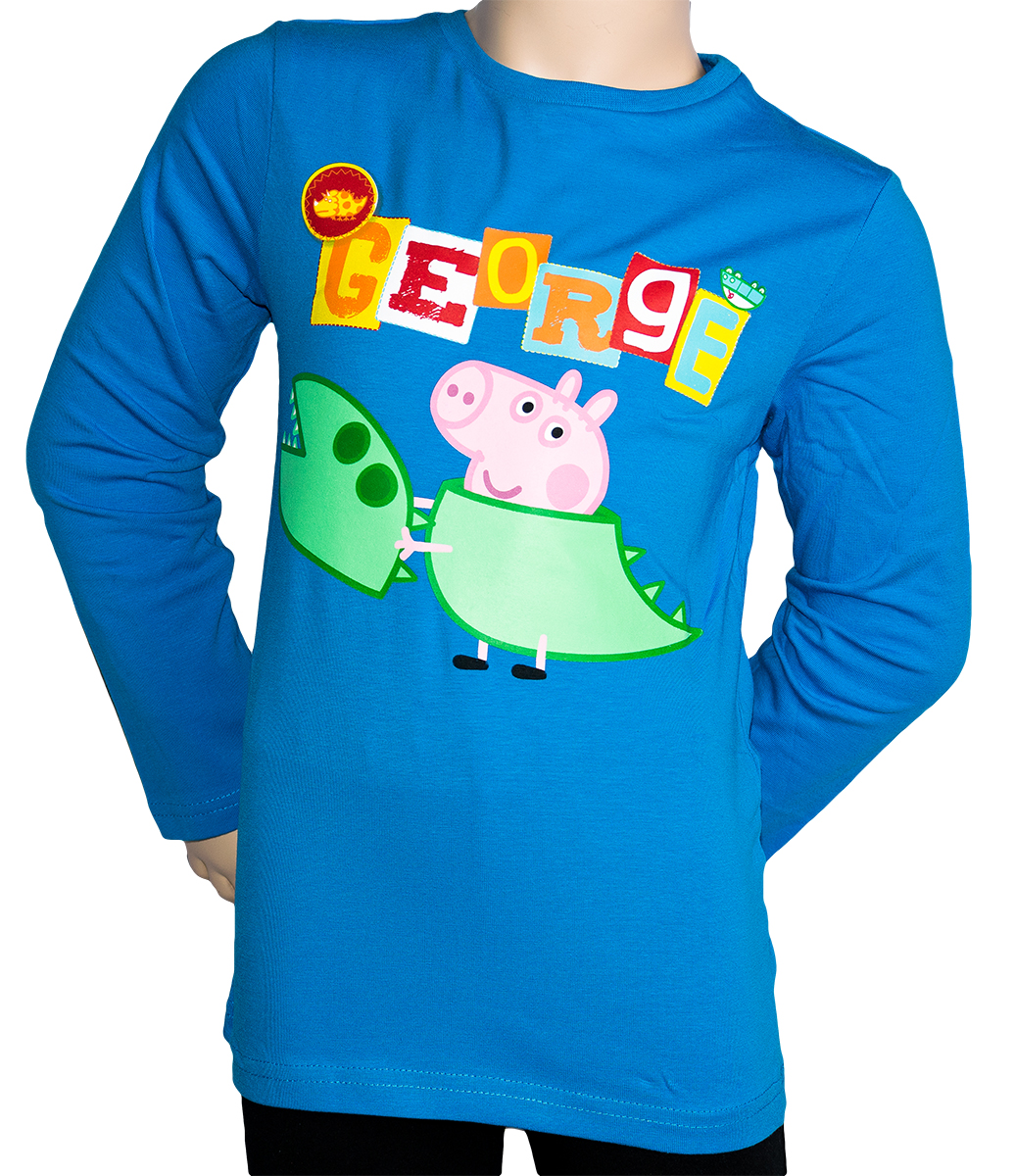 Krásné originální dětské tričko Prasátko Peppa Pig pro kluky, modré