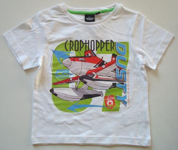 Krásné originální dětské tričko pro kluky Disney Planes, bílé