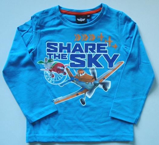 Krásné originální dětské tričko pro kluky Disney Planes, tyrkysové