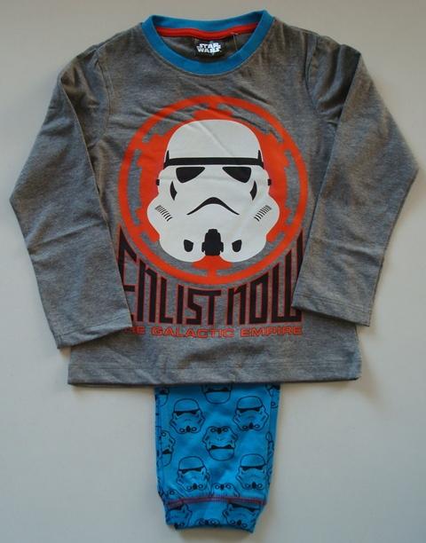 Krásné originální dětské pyžamo pro kluky Star Wars, šedé