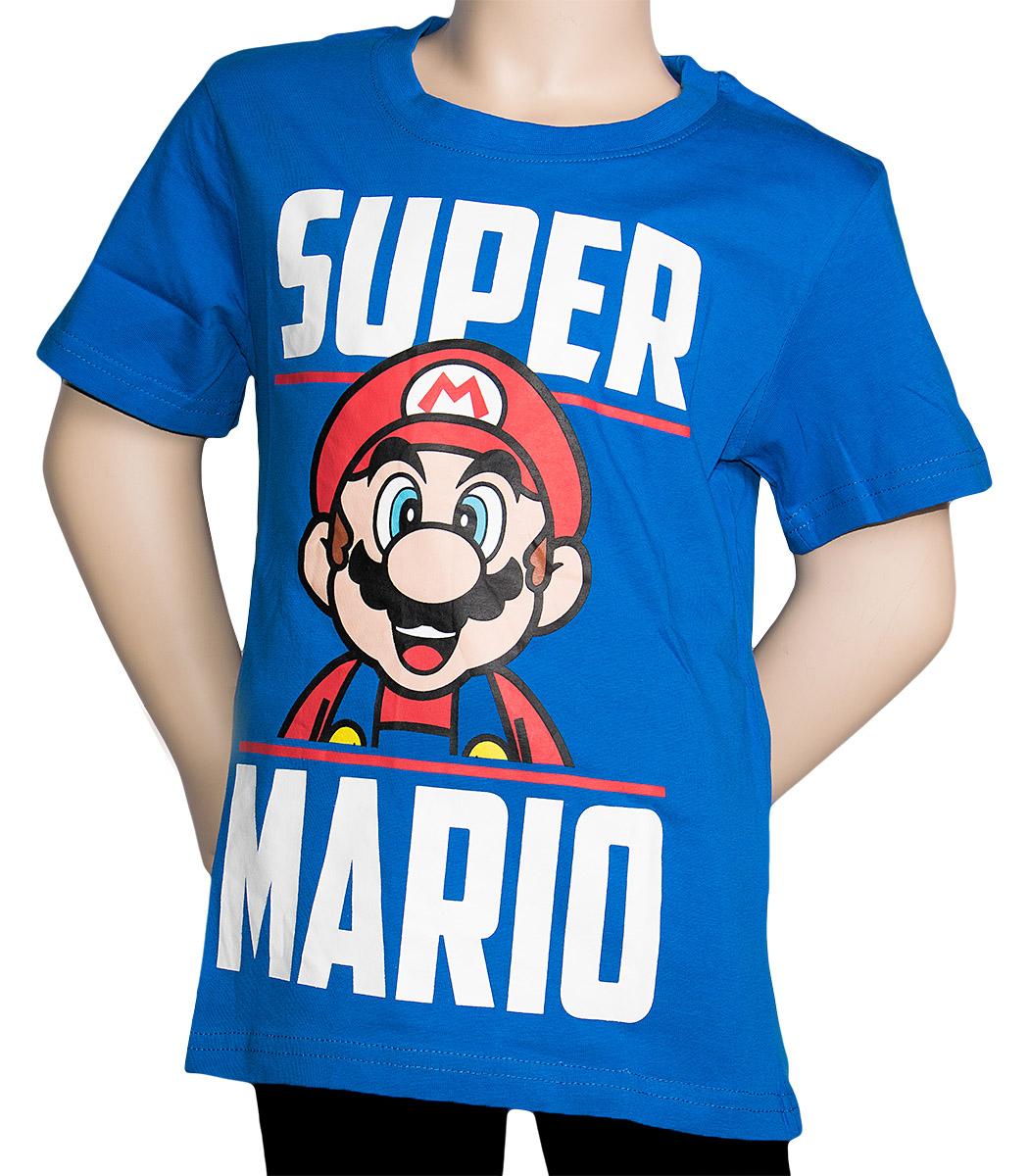 Krásné originální dětské tričko Super Mario pro kluky, modré