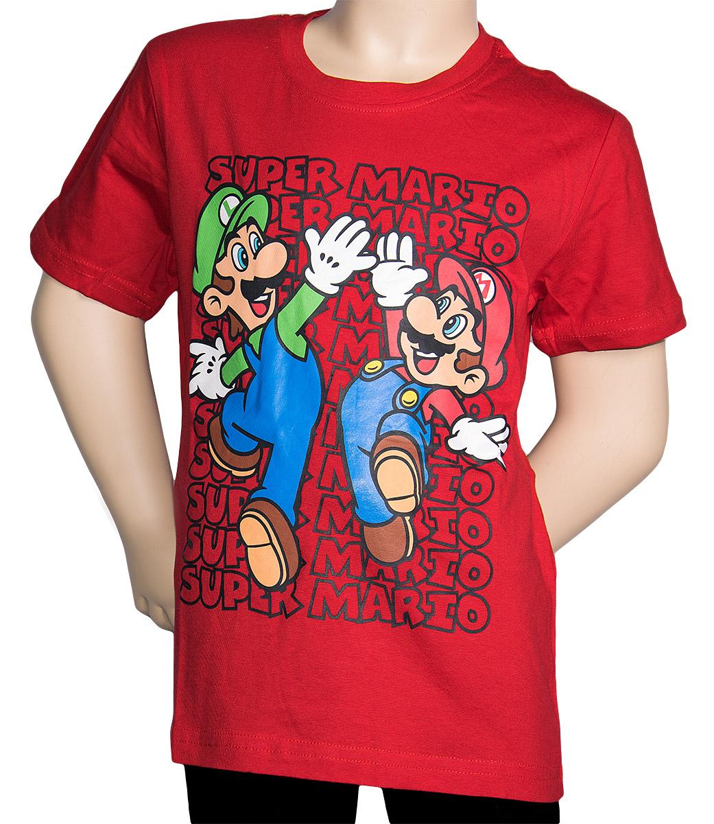 Krásné originální dětské tričko Super Mario pro kluky, červené