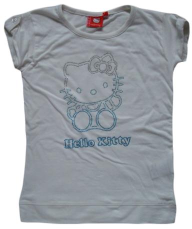 Krásné originální dětské tričko Hello Kitty, bílé