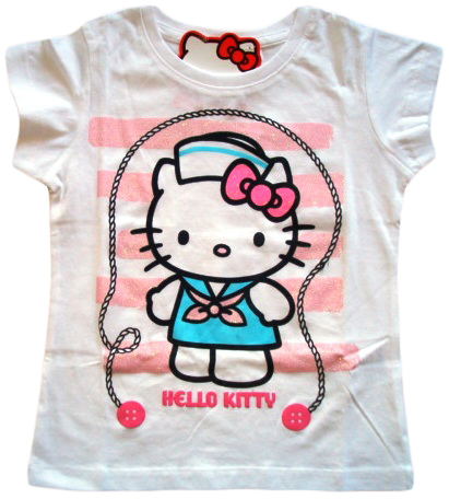 Krásné originální dětské tričko Hello Kitty, bílé, pro holky