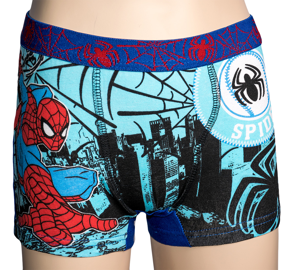 Originální dětské boxerky Spiderman pro kluky, modré, 2-3 roky