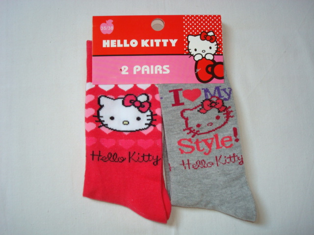 Ponožky Hello Kitty, 2-Pack